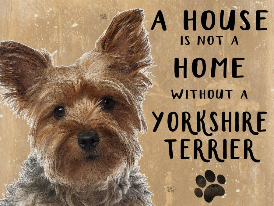 Yorkshire Terrier Hanging Sign