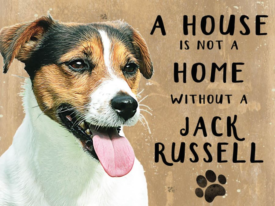 Jack Russell Hanging Sign