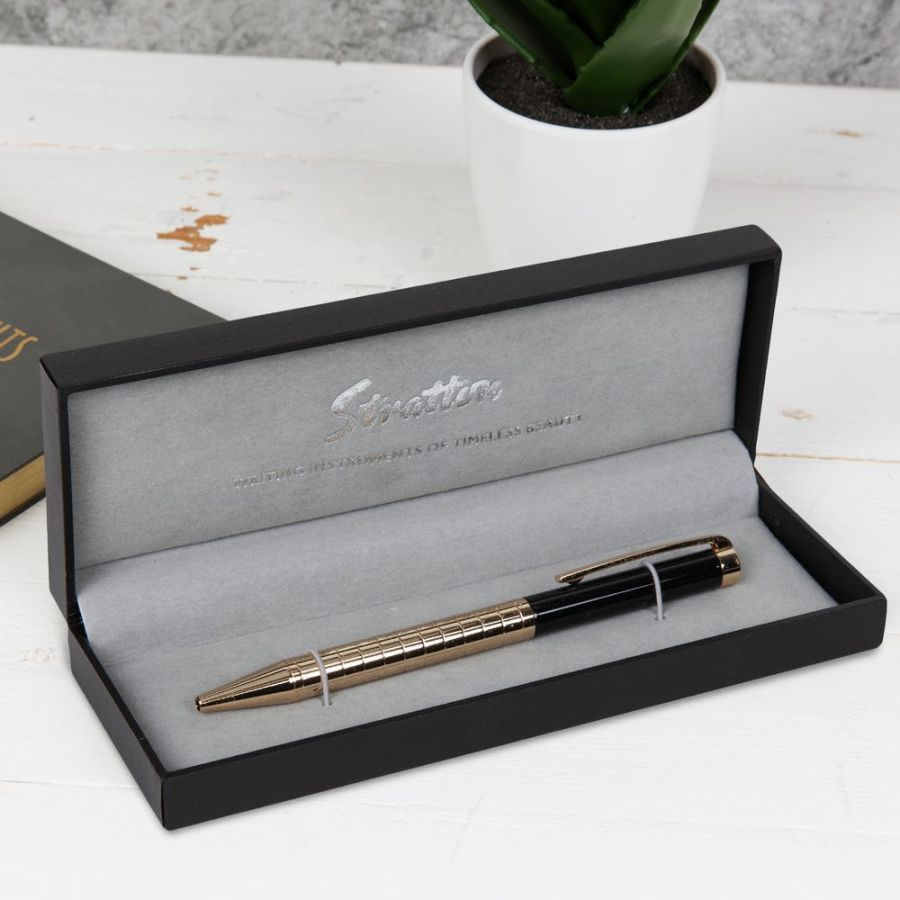 Stratton Black & Gold Ball Point Pen