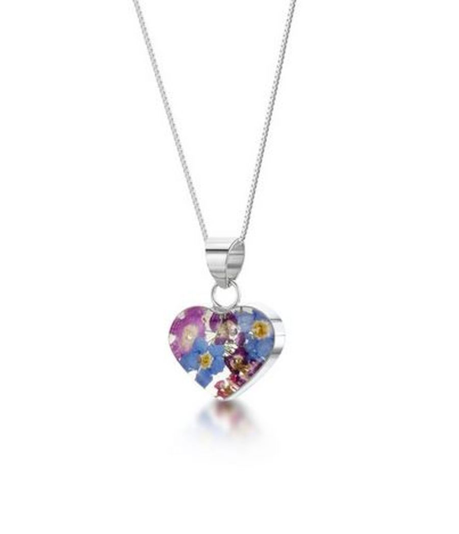 Silver Small Heart Purple Haze Pendant