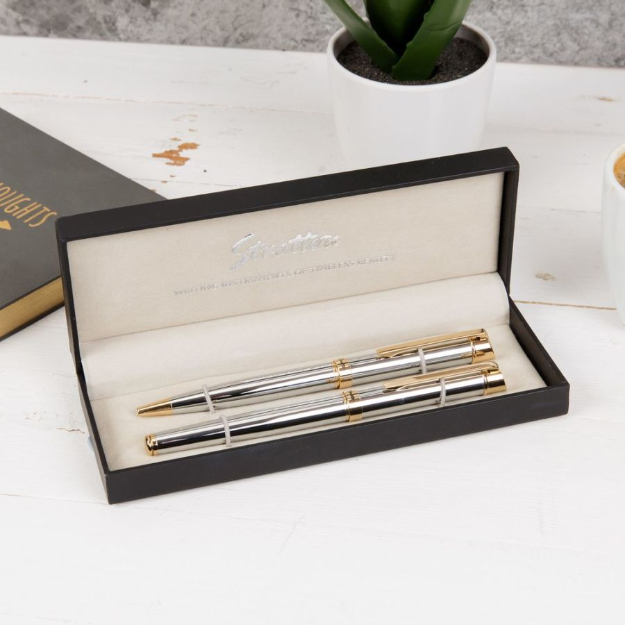 Roller ball and Ballpoint Pen Set from Stratton