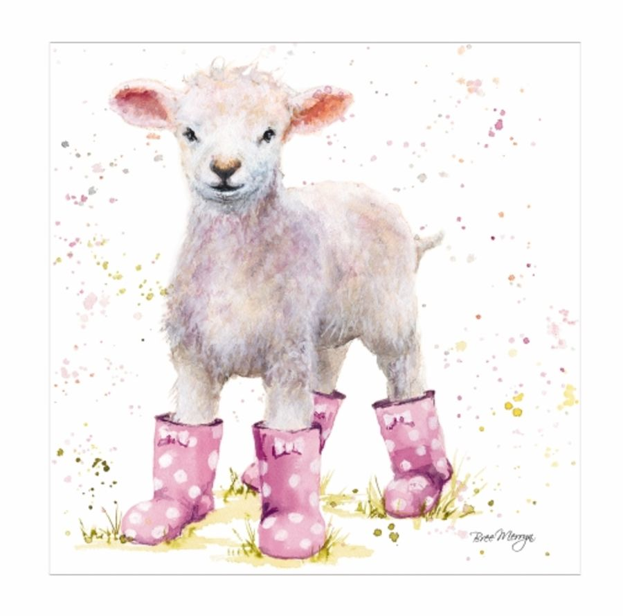 Lotie Lamb Greetings Card