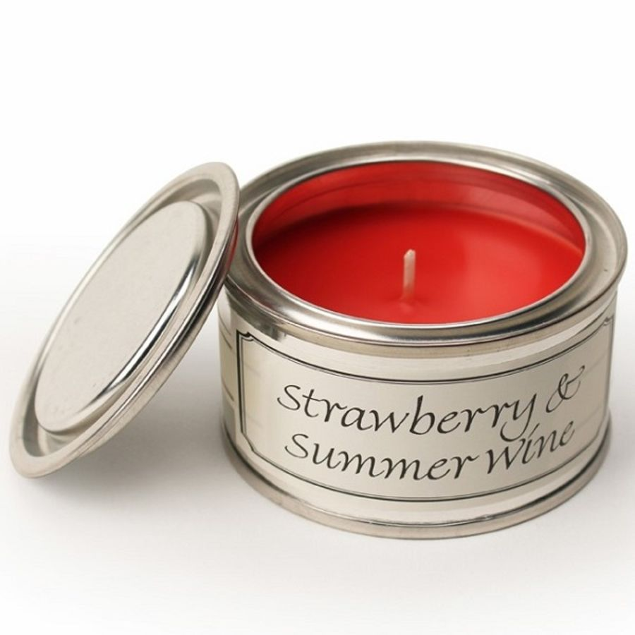 Strawberry & Summer Wine Pintail Fragranced Candle