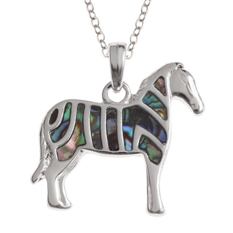 Tide Jewellery inlaid Paua shell Zebra Pendant