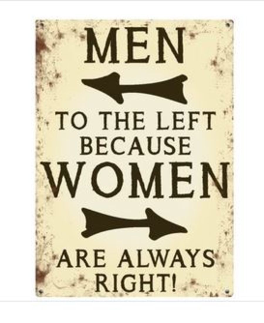 Men to the left...Mini Metal Sign