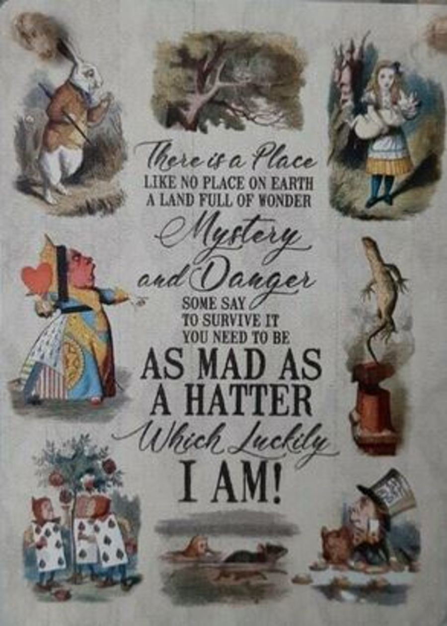 As Mad As A Hatter Mini Metal Sign