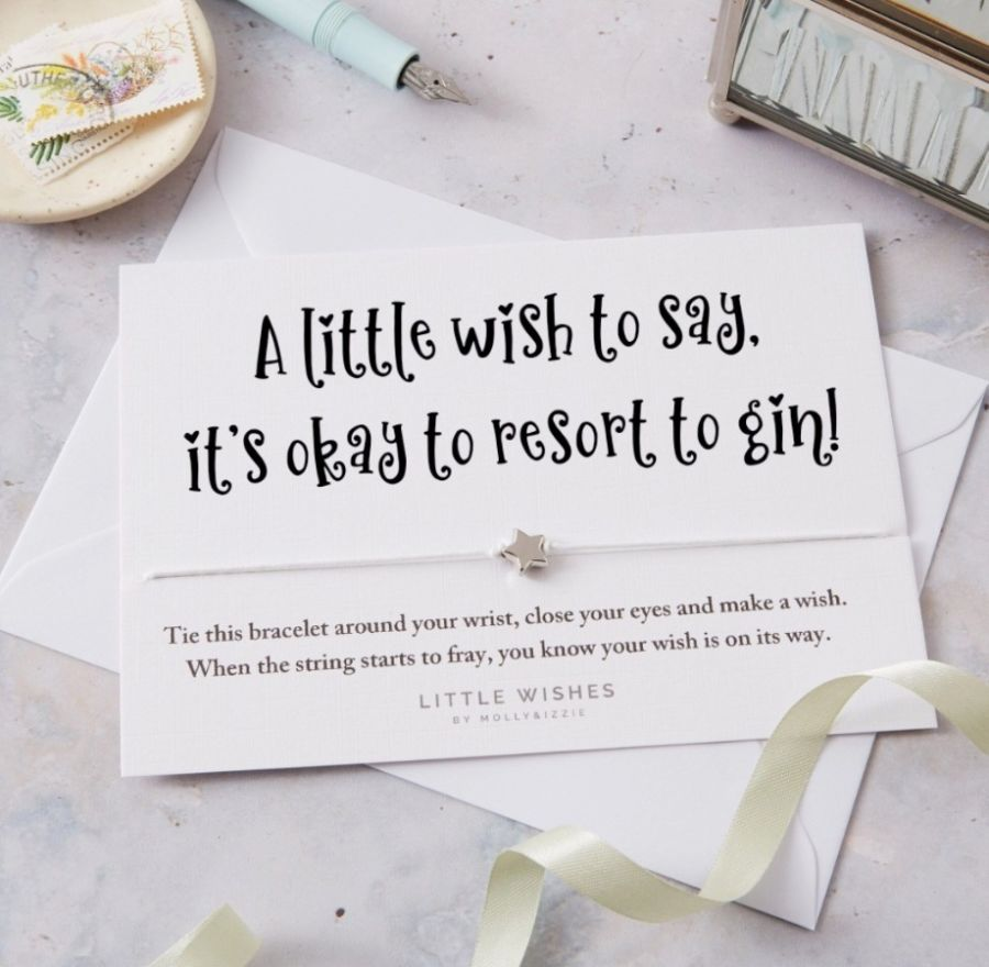 Little Wishes Bracelet - Its Ok to Resort to Gin