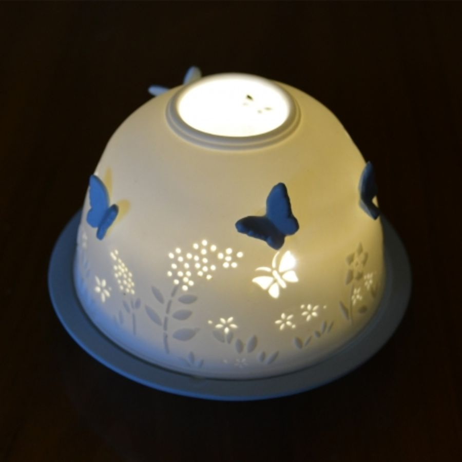 Attached Butterfles - Nordic Lights Candle Shade