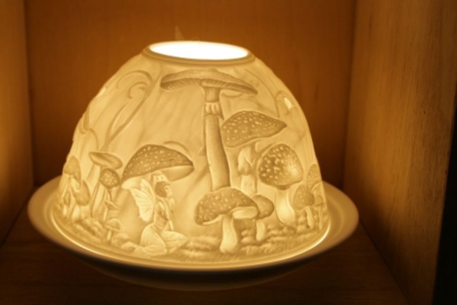 Fairy Mushrooms Nordic Lights Candle Shade