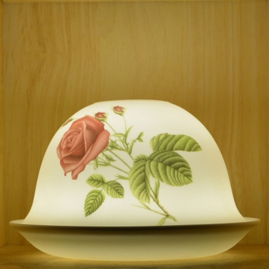 Red Rose Nordic Lights Candle Shade
