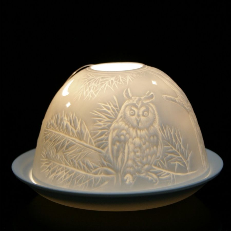 Owl Nordic Lights Candle Shade