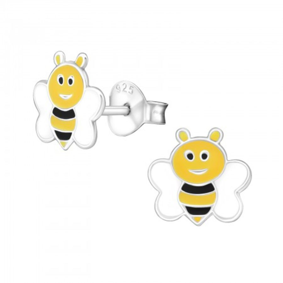 925 Sterling Silver Bee Earrings