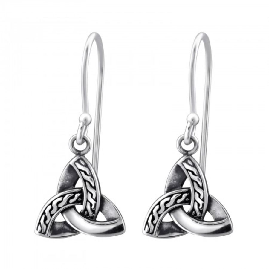 925 Sterling Silver Small Trinity Knot Earrings