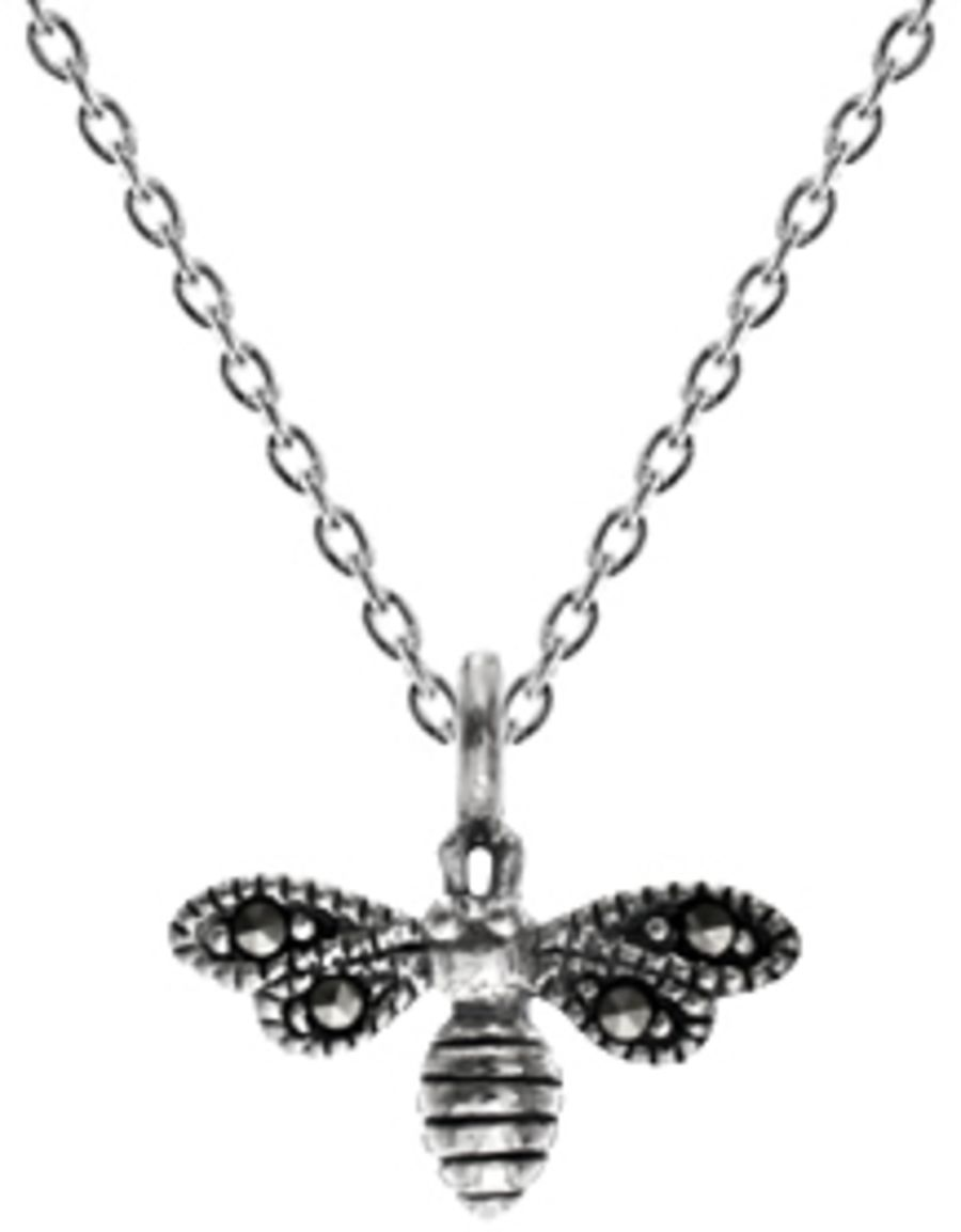925 Sterling Silver & Marcasite Bee Pendant