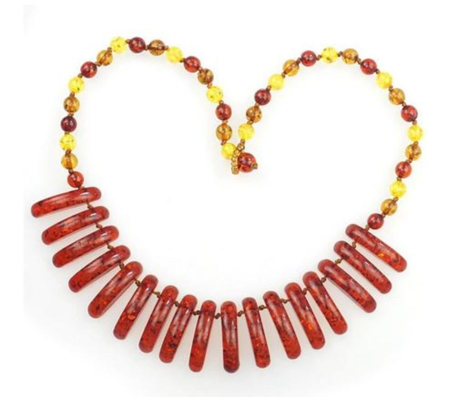 Faux Amber Choker Necklace