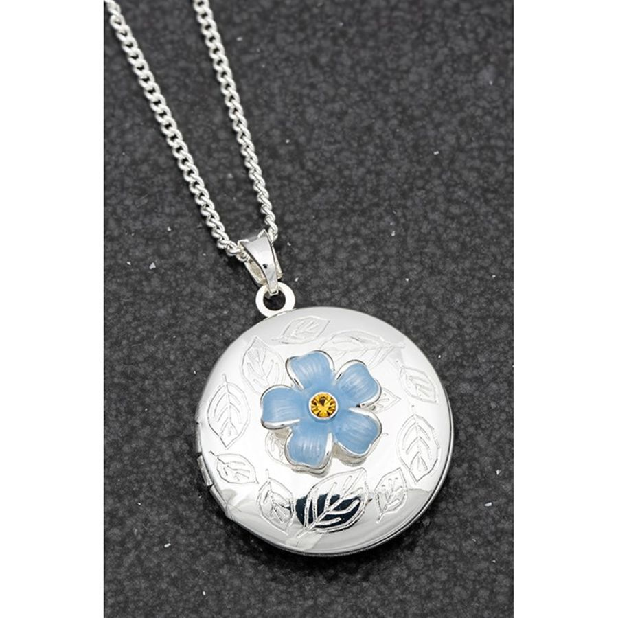 Forget Me Not Silver Plated Locket