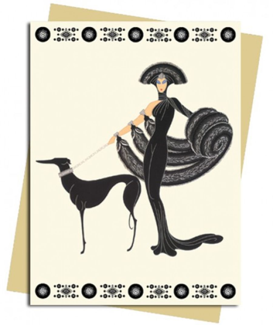Symphony In Black (Erté) Greeting Card
