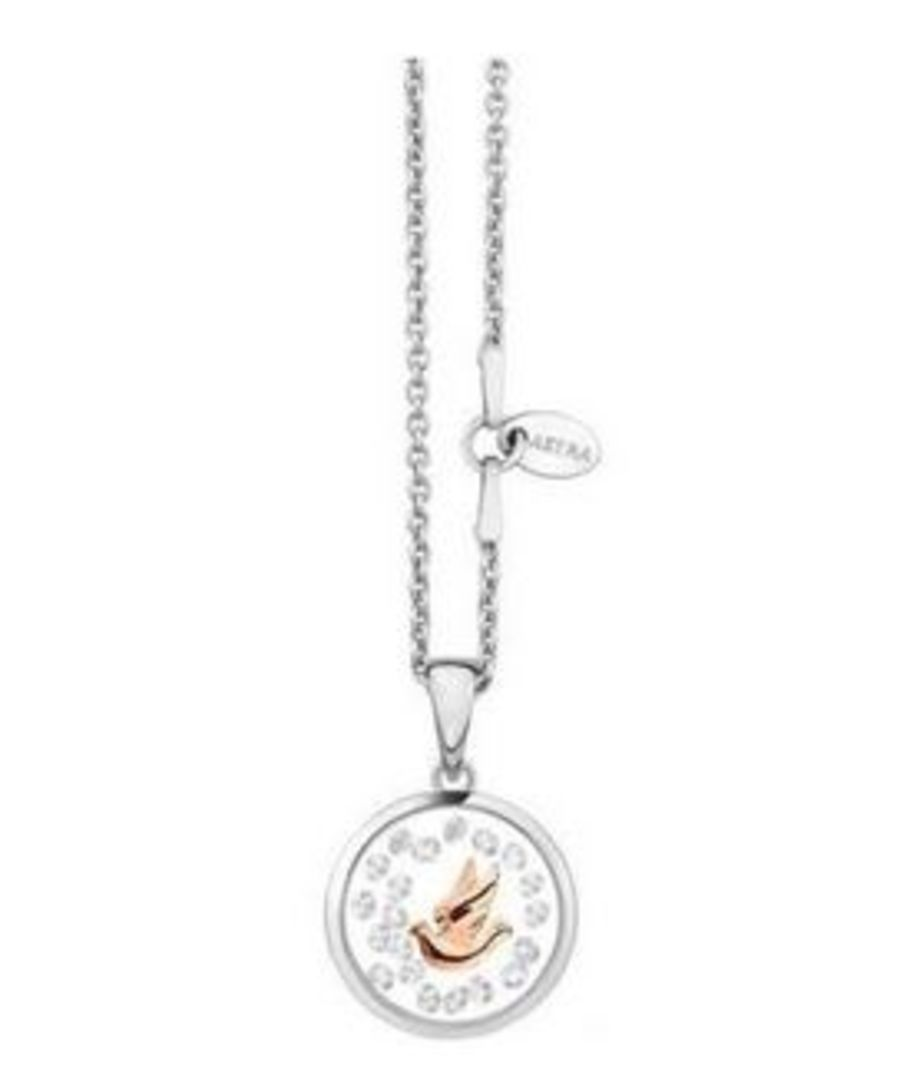 Astra Silver Dove Necklace (Rose Gold Plating)