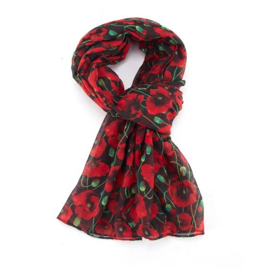 Poppy Bloom Scarf