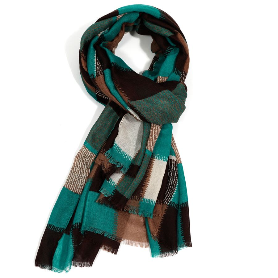 Squares Print Scarf