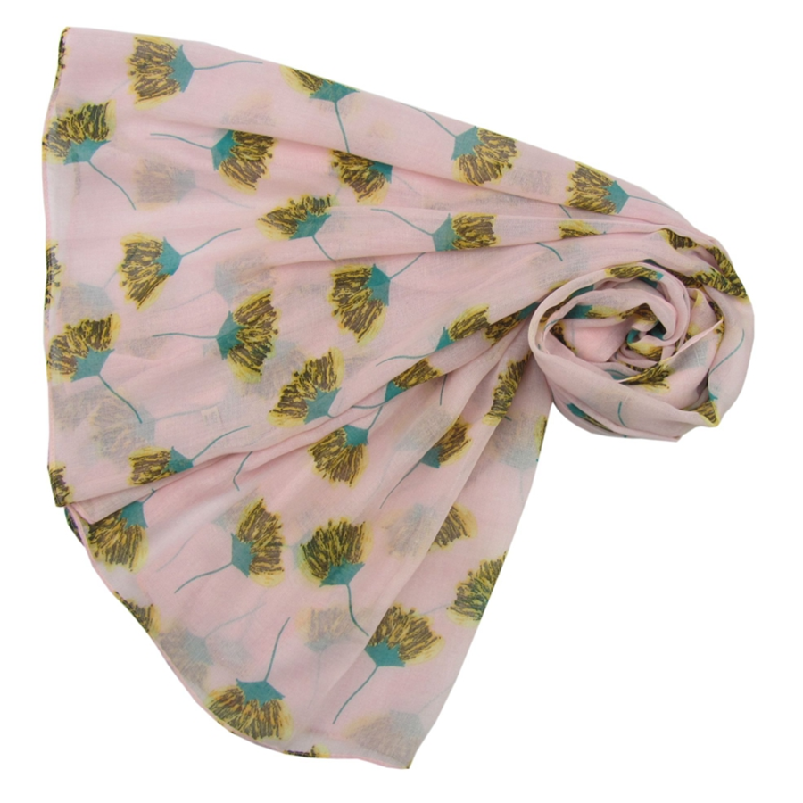 Pressed Flowers Print Scarf