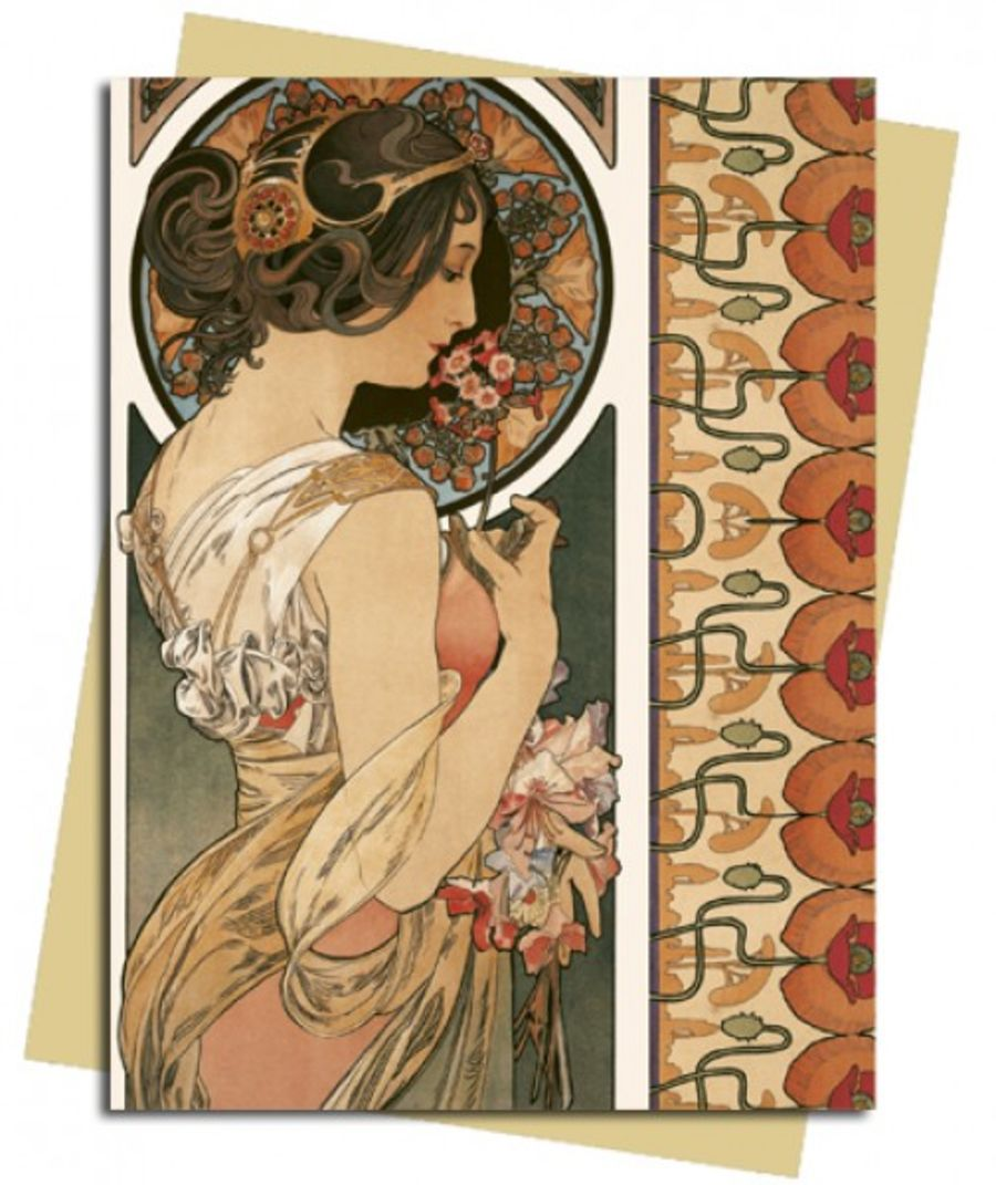 Cowslip (Mucha) Greeting Card