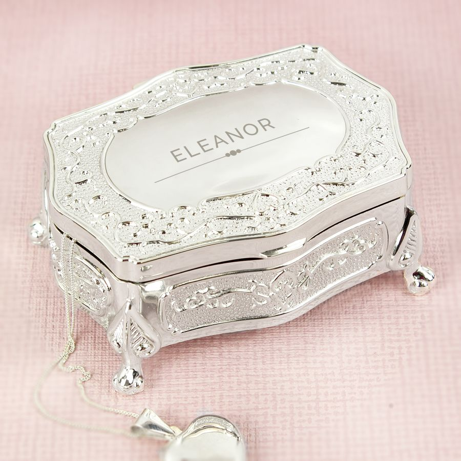 Personalised Classic Small Antique style Trinket Box