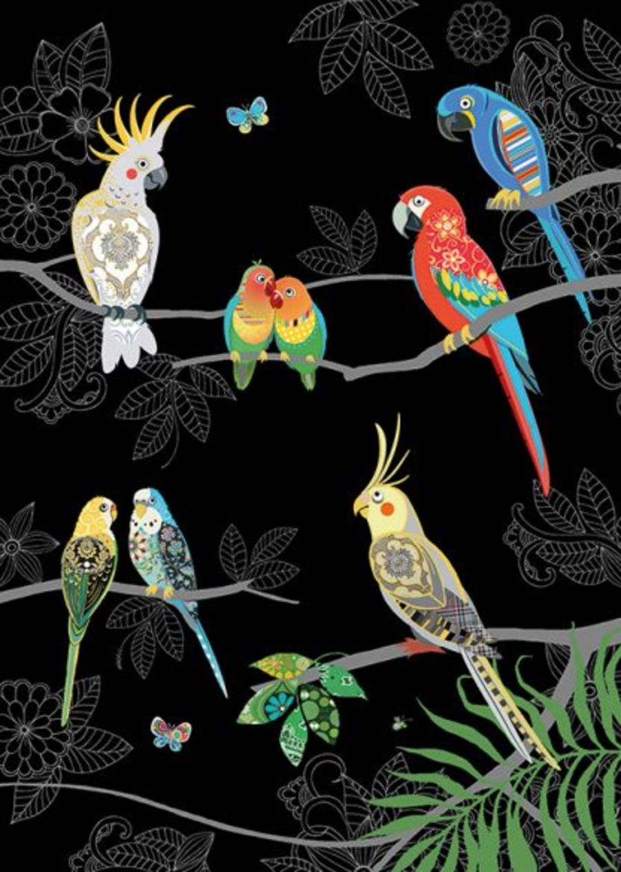 Tropical Birds by Bug Art