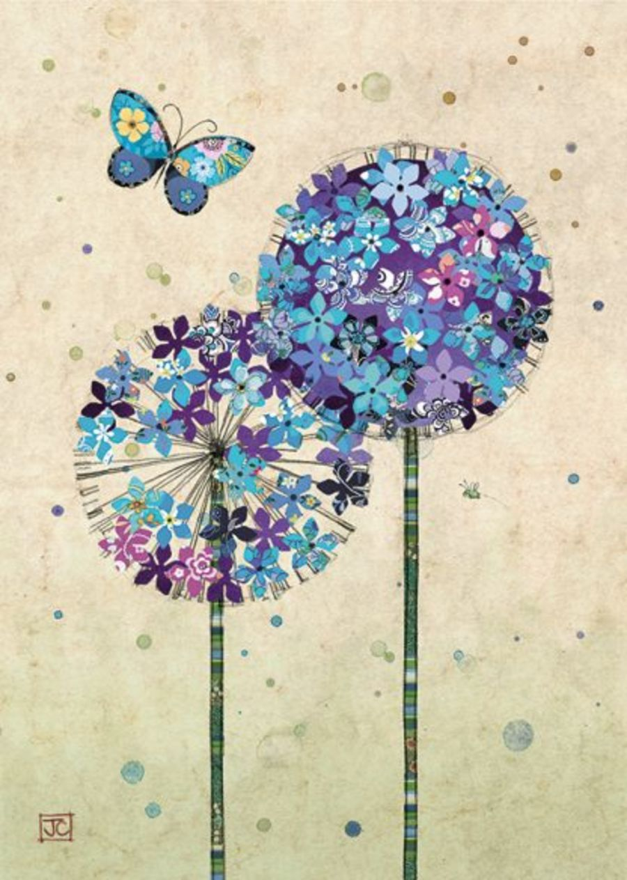 Buterfly Alliums card by Bug Art