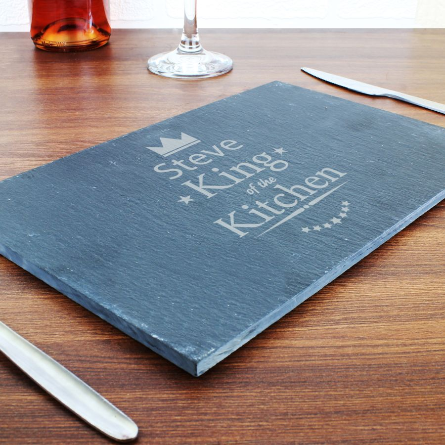 Personalised King / Queen of the Kitchen Slate Placemat