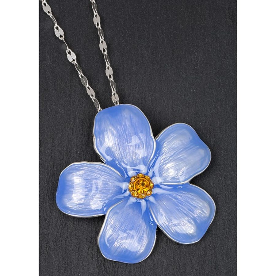 Equilibrium Silver Plated Forget Me Not Pendant