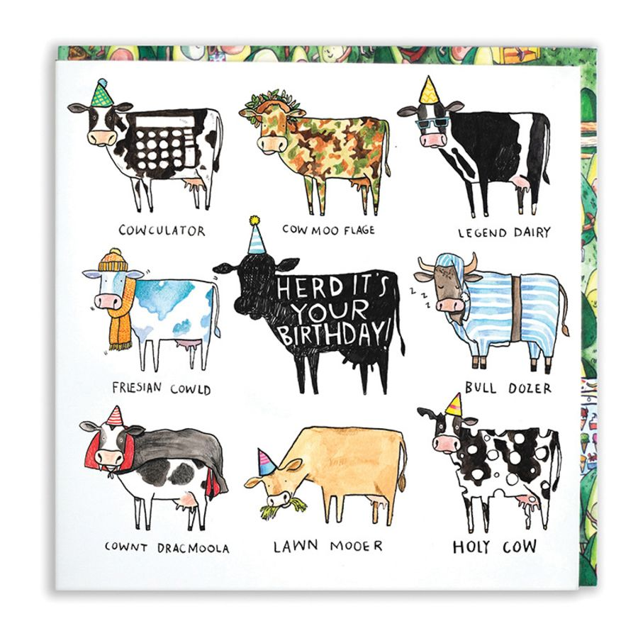 Herd it's your birthday Card by Jelly Armchair