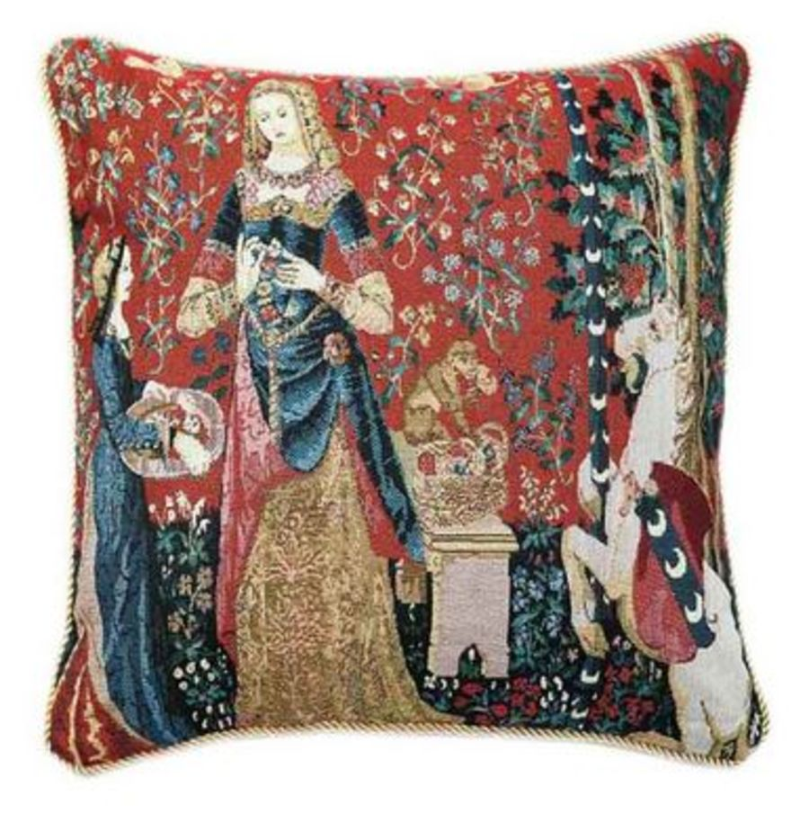 Lady and Unicorn Sense of Smell Cushion Cover