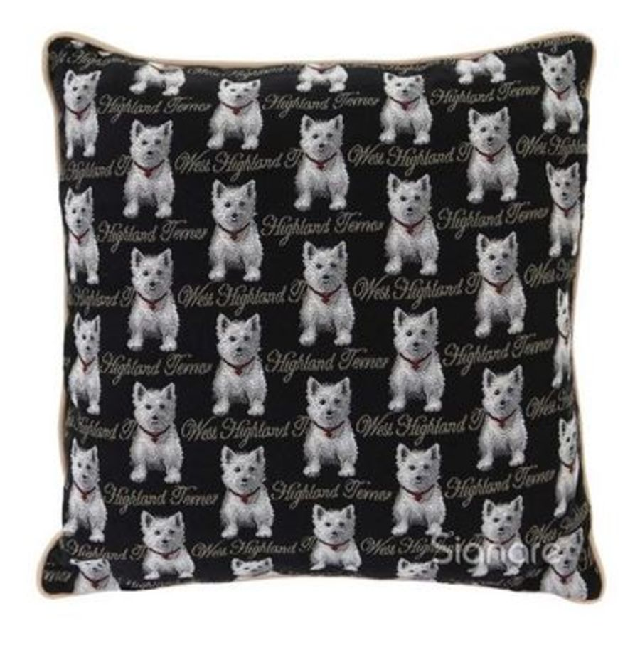 Westie Tapestry Cushion Cover