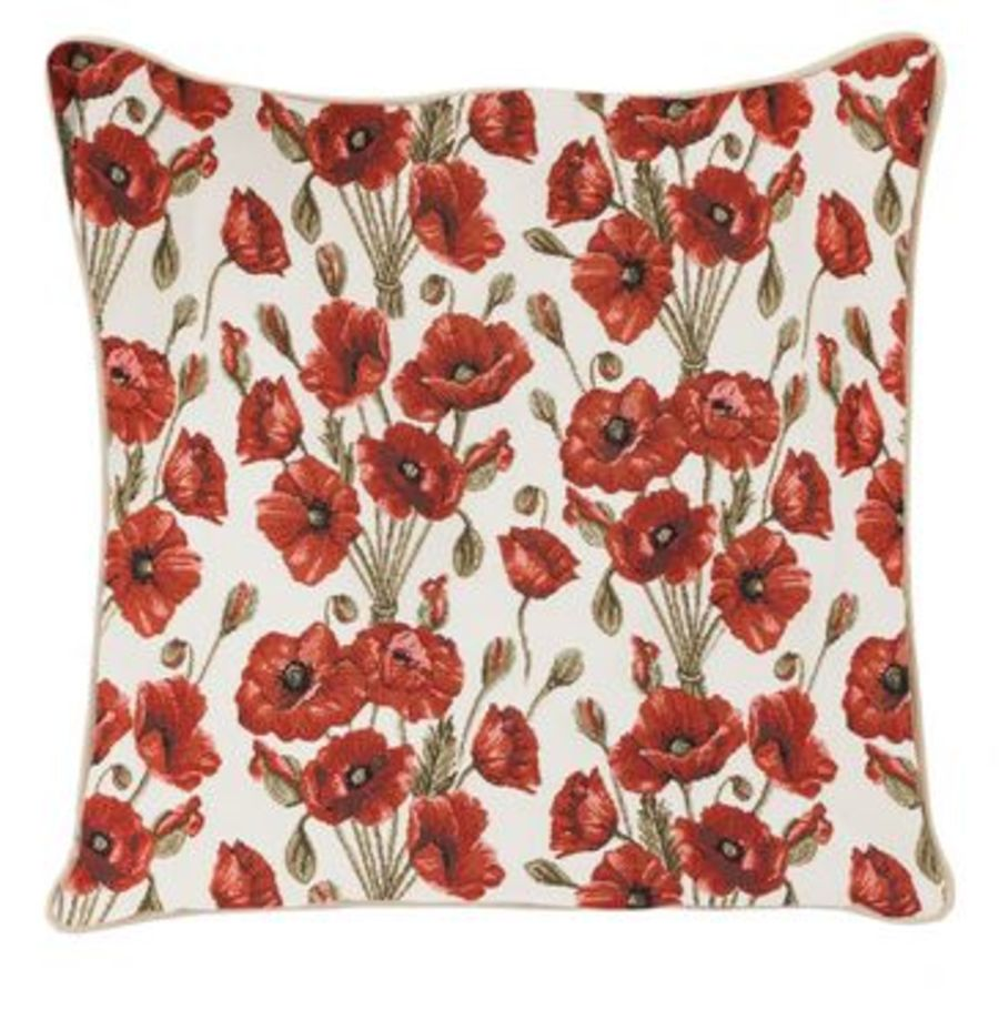 Poppy Tapestry Cushion Cover