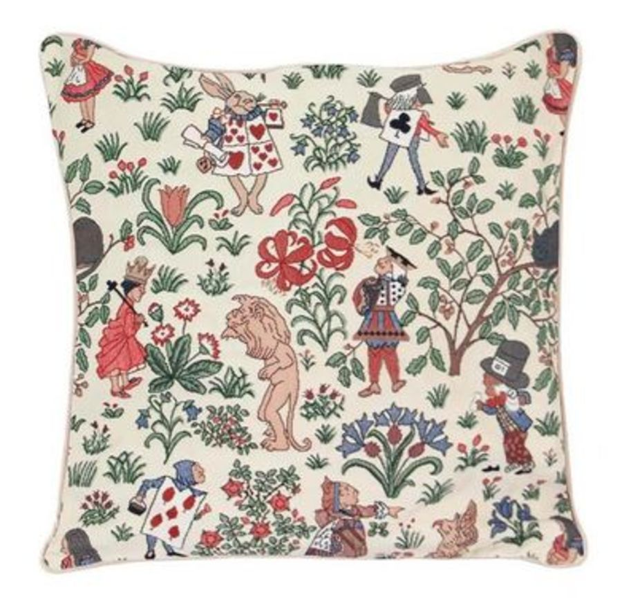 Alice In Wonderland Tapestry Cushion Cover