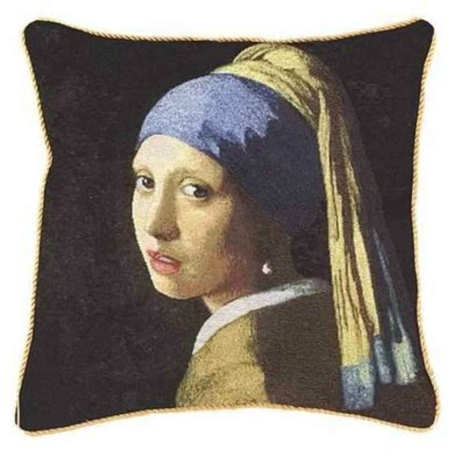 Girl with a Pearl Earring Cushion Cover