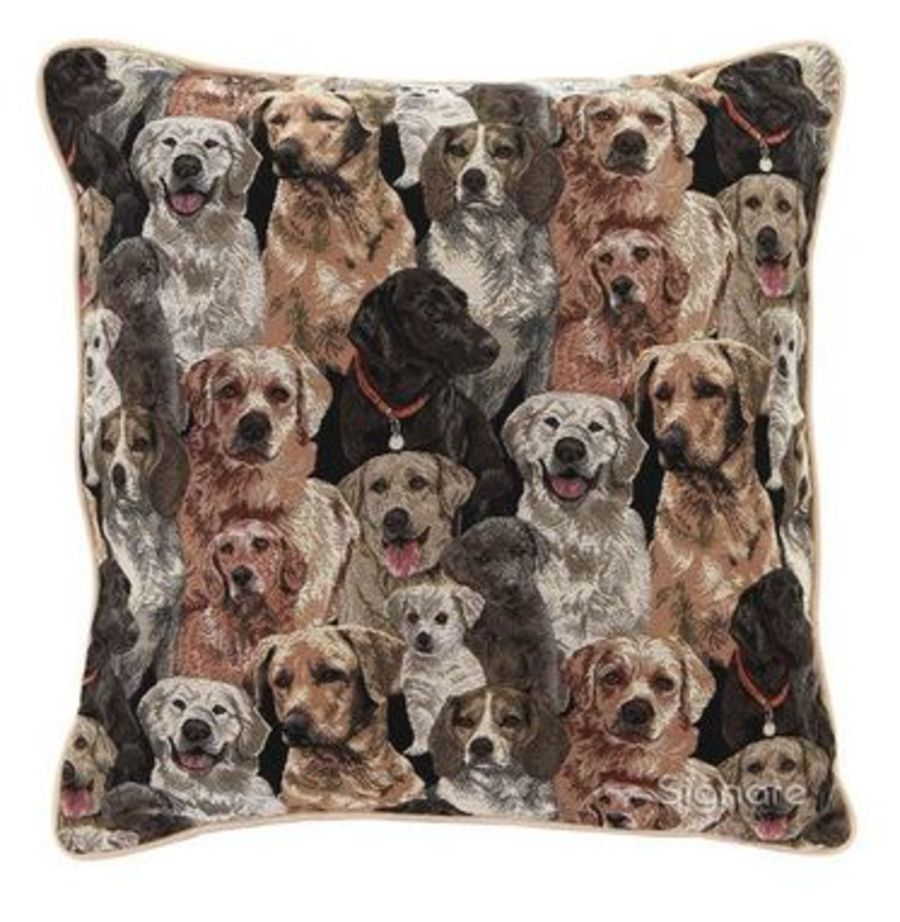Labrador Tapestry Cushion Cover