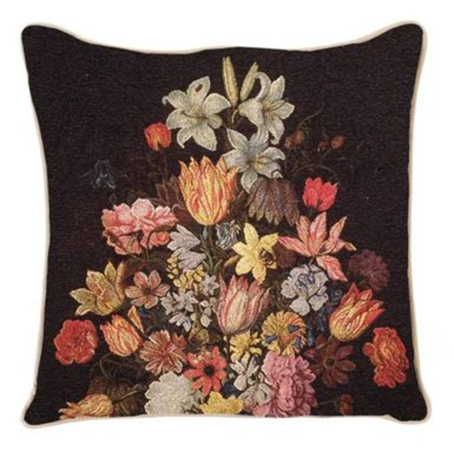 Still Life in Wan Li Vase  Cushion Cover