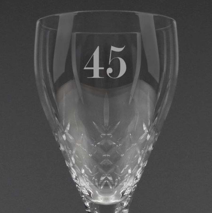 Personalised AGE Cut Crystal Wine Glass