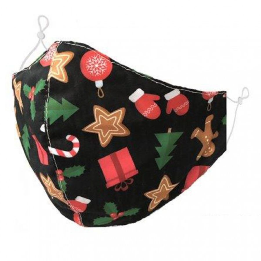 Christmas cute motifs pattern fabric fashion Face Mask