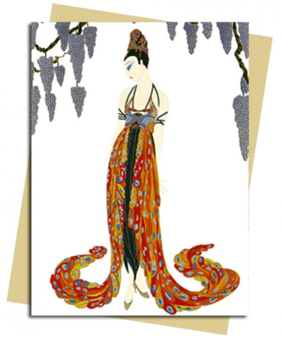 Feather Gown (Erté) Greeting Card