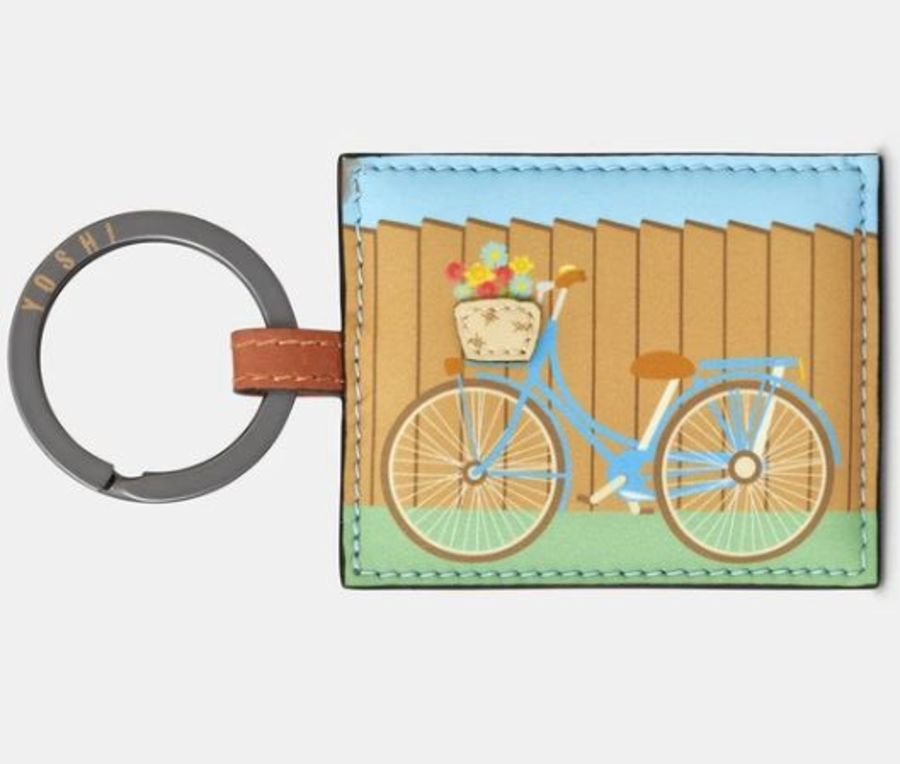 Bicycle Leather Keyring