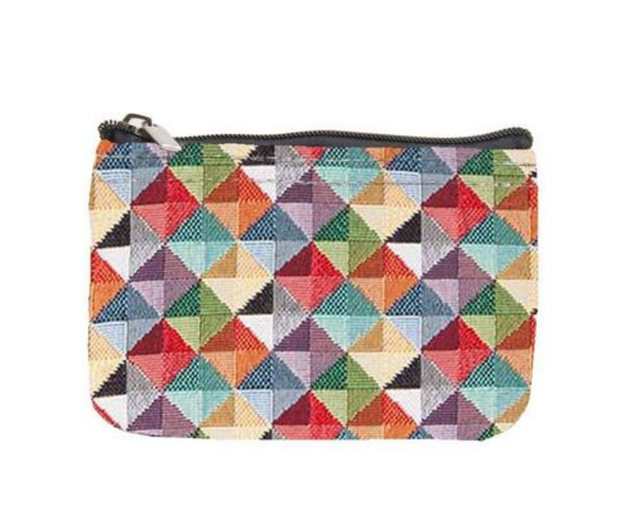 Multi Triangle Zip Coin Purse by Signare