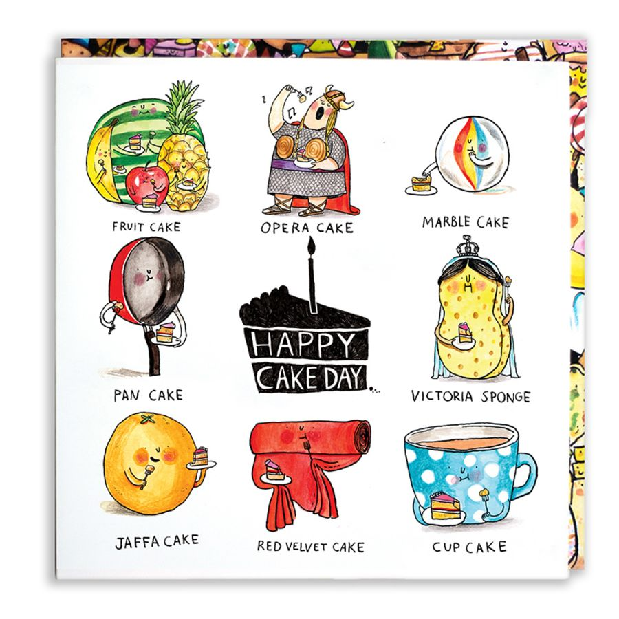 Happy Cake Day card by Jelly Armchair