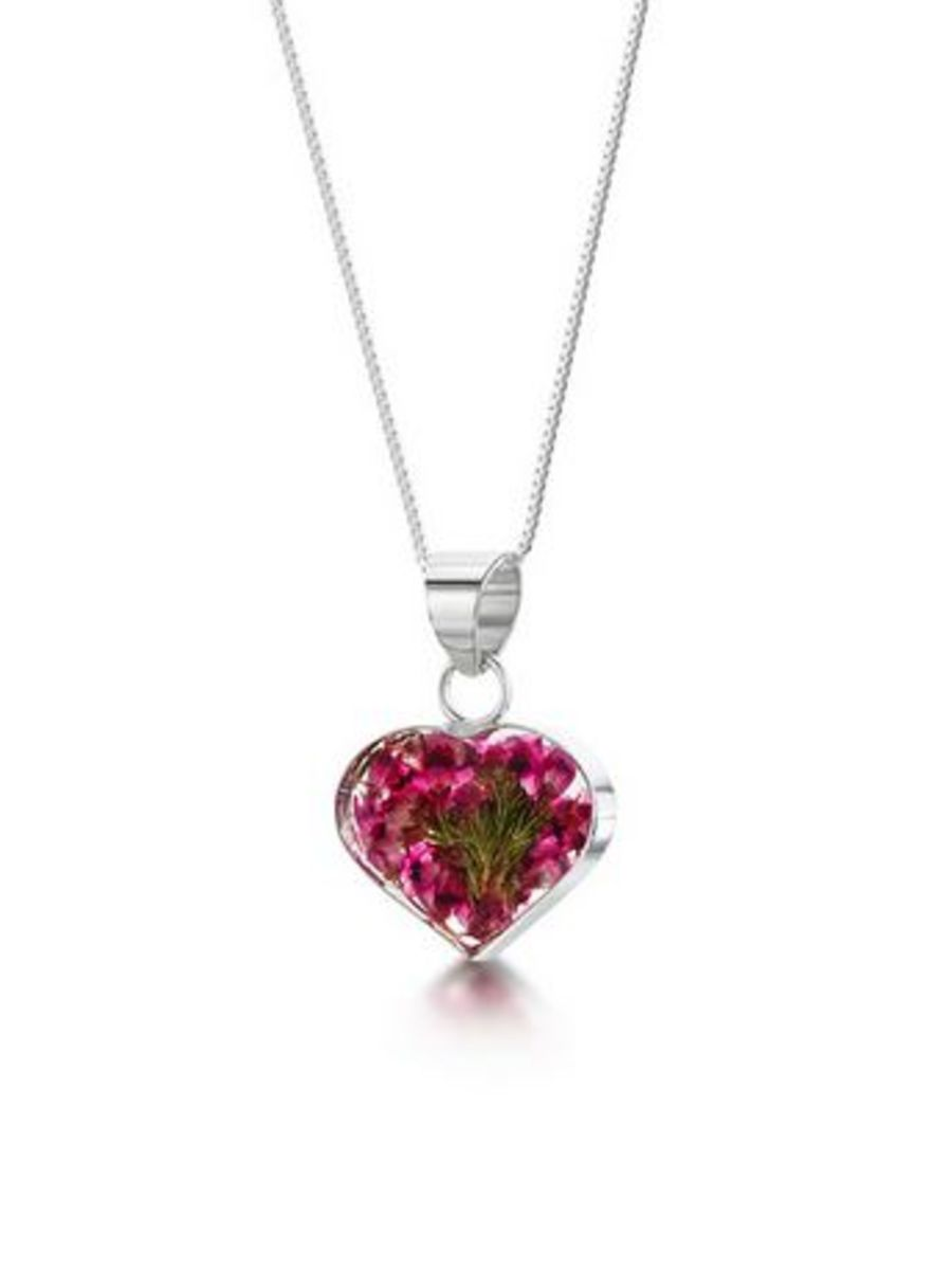 Heather necklace by Shrieking Violet® Sterling Silver Heart Pendant