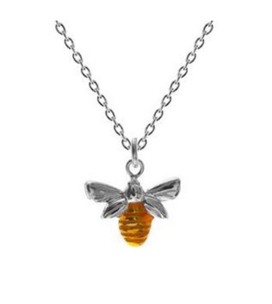 925 Silver & Gold Plated Bee Pendant & Chain
