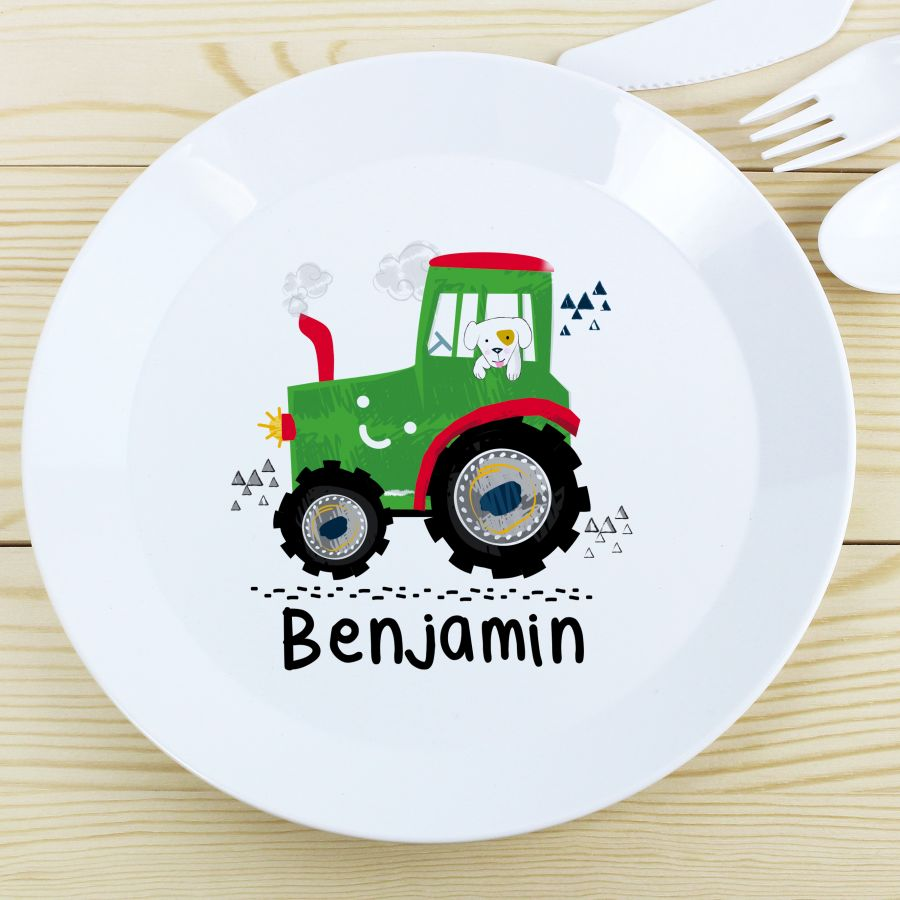 Personalised Plastic Plate ( 3 Designs Available)