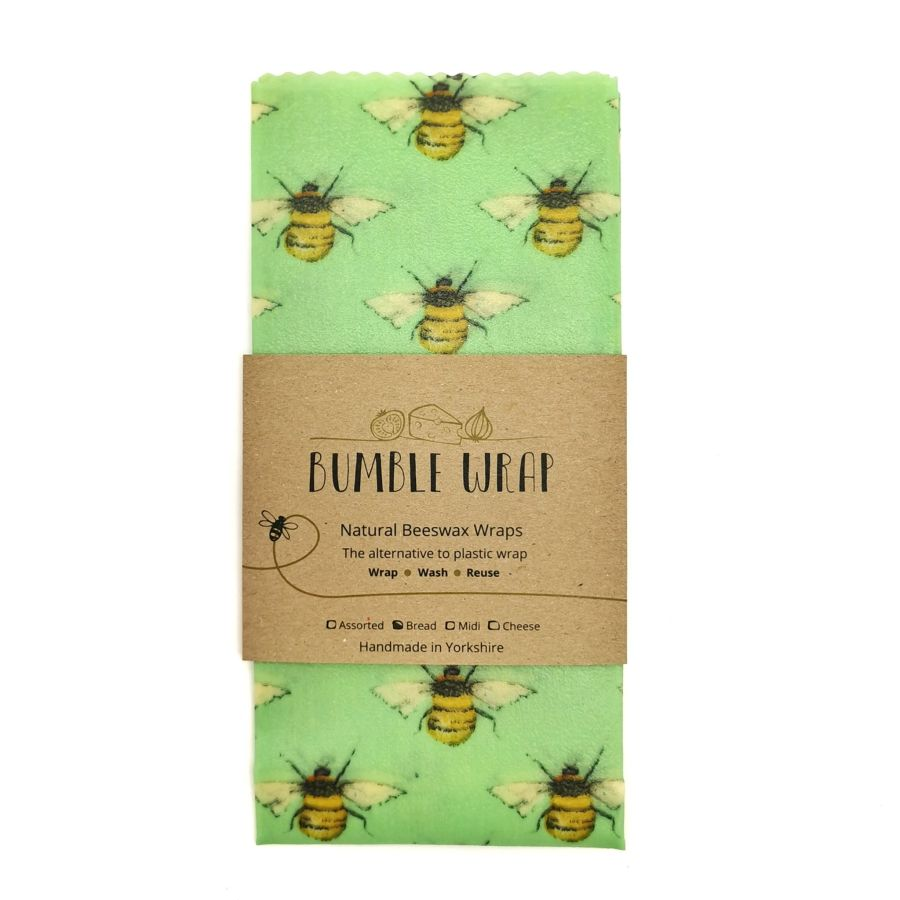 Bread Wrap - Bees (Green) Large Bumble Wrap