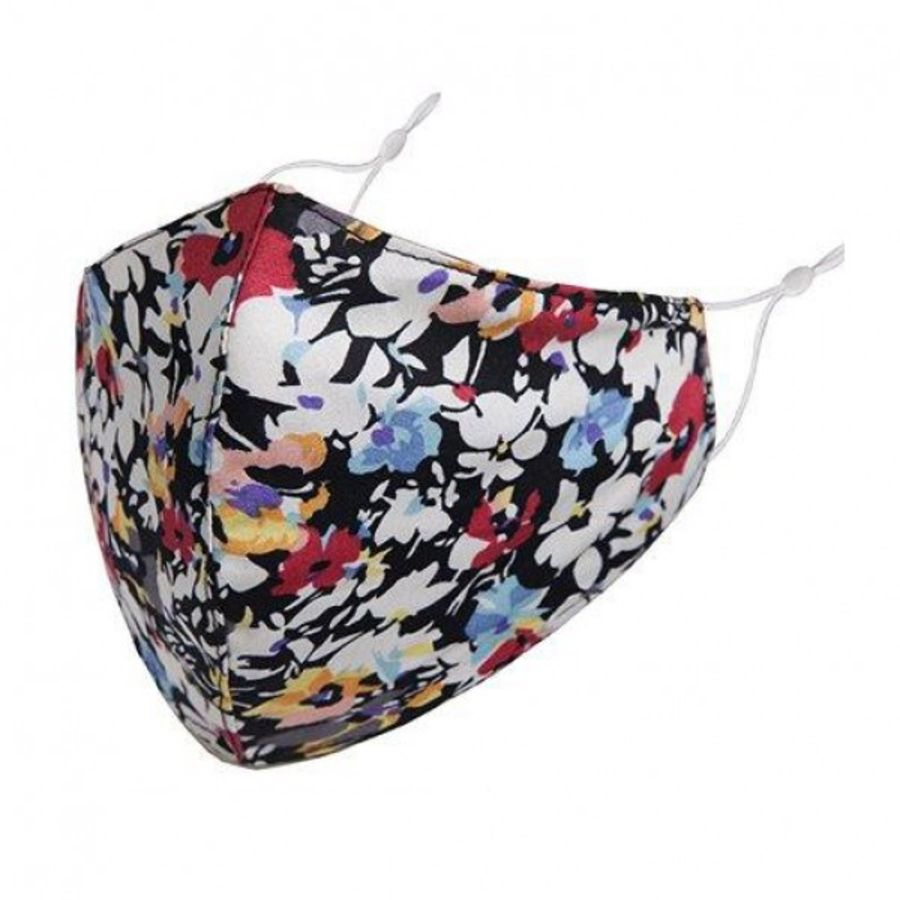 Bright floral pattern fabric fashion face Mask